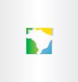 brazil logo map icon vector image vector image