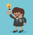 business woman big boss get an idea vector image vector image