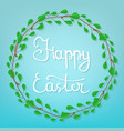 calligraphy lettering happy easter vector image vector image