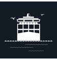Cargo Container Ship Isolated on Black vector image