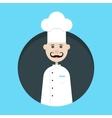 chef avatar in dark circle vector image vector image