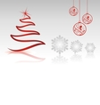 christmas collection with single shapes vector image vector image