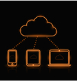 Cloud Neon Orange vector image vector image