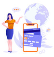 concept mobile payments online money transfer vector image vector image
