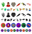 country mexico cartoon icons in set collection for vector image vector image
