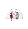 couple in love happy valentines day holiday vector image vector image