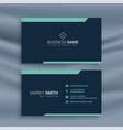dark clean business card template vector image vector image
