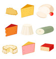 delicious fresh cheese variety italian dinner icon vector image