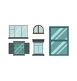 Different types house windows elements vector image vector image