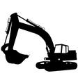 excavator construction vector image vector image