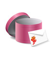 gift box and a letter vector image vector image