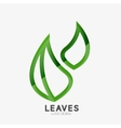 Green eco leaf logo vector image