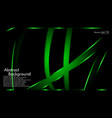 Green ribbon wave on a black background layout