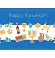 Happy Hanukkah seamless poster greeting card vector image vector image
