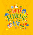 happy republic day of india on vector image