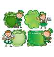 Happy St Patricks Day greeting banners vector image vector image