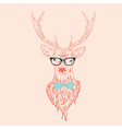 Hipster Stag 2 vector image vector image