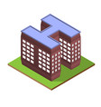 isometric building letter h form vector image