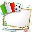 italian signboard soccer theme vector image vector image
