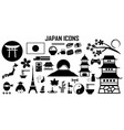 japan travel asia sushi icon mono symbol vector image