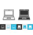 Laptop simple black line icon