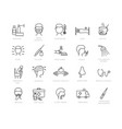 large collection flu and medical icons vector image vector image