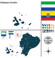 map of galapagos ecuador vector image