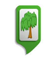 map sign willow tree icon cartoon style vector image vector image
