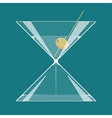 Martini hourglass vector image