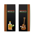 Mexican Banners Vertical vector image