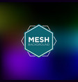 midnight blue mesh background vector image vector image