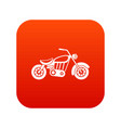 motorcycle icon digital red vector image