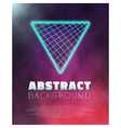 Music Abstract Poster Cover 1980s Style Background vector image vector image