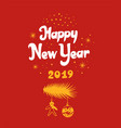 new year lettering designs vector image