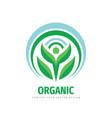 organic product icon nature human character logo vector image vector image