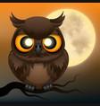 owl happy halloween vector image vector image