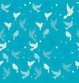 pattern birds background vector image vector image