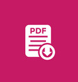 pdf document download icon vector image vector image