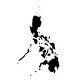 philippines - solid black silhouette map of vector image
