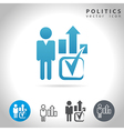 politics icon set vector image