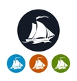Sailing vessel icon vector image