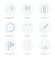 school Web icons set line icons style vector image vector image