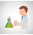 scientist worker research filled beaker vector image vector image
