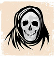 scull death Black monster halloween vector image