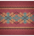 seamless knitting background pattern vector image