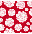 seamless pattern of carnations vector image vector image