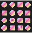 set labels pattern vector image