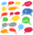 Set of colored comic style talk clouds vector image vector image