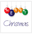 shiny colorful merry christmas decoration with vector image
