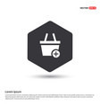 shopping cart and plus sign vector image vector image